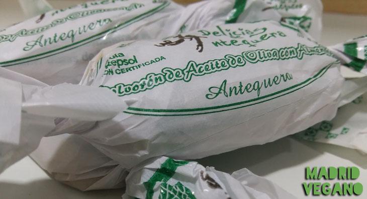 Polvorones de almendra de Delicias de Antequera