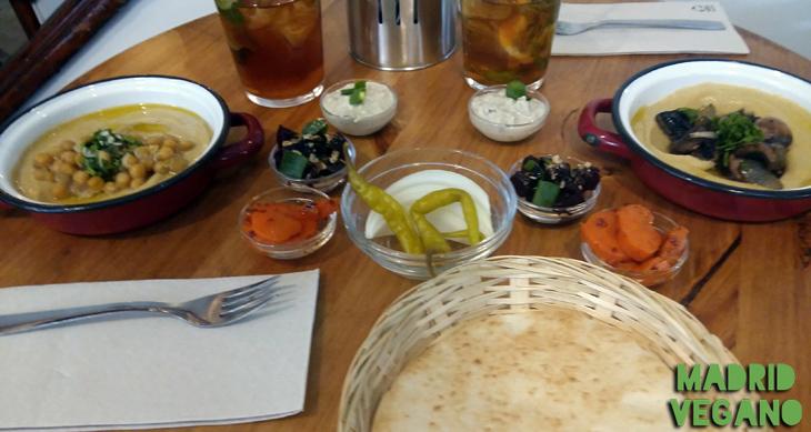 Menú de La Hummuseria