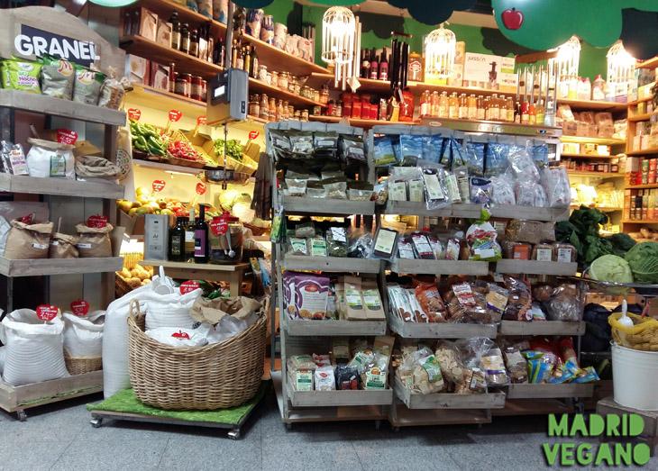 La ecotienda del mercado en el mercado de Antón Martín