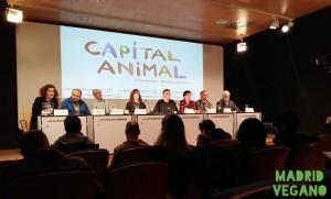 """Sala audiovisual en la Casa Encendida, presentación """"Capital Animal"""""""