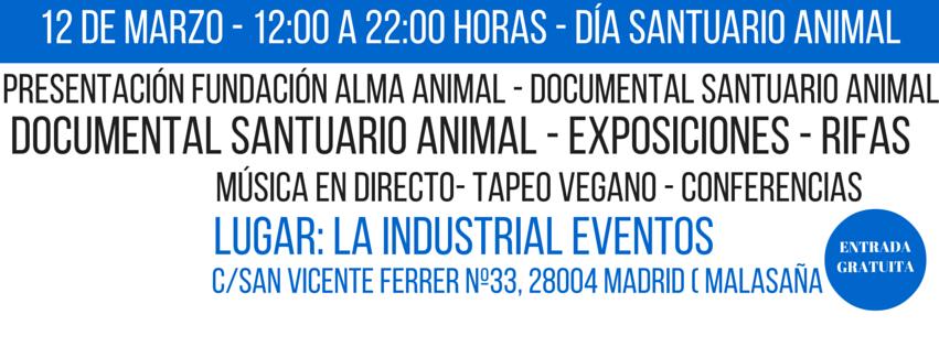 Fundación Alma Animal se presenta en Madrid el 12 de marzo