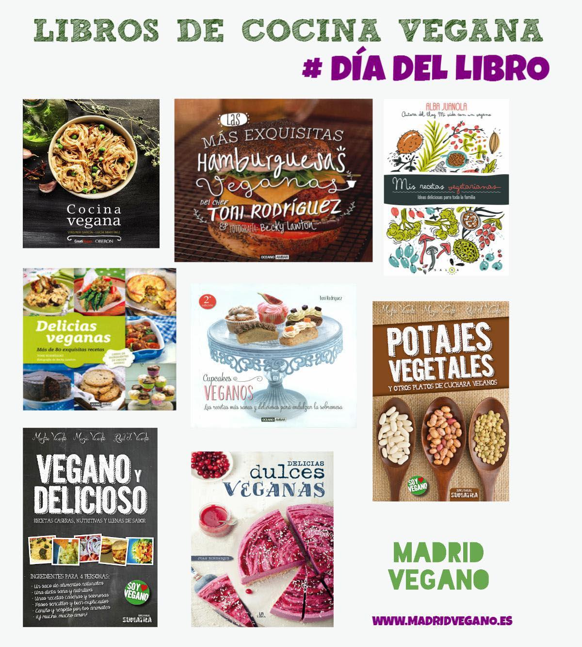 Libros de cocina vegana para el Día del Libro