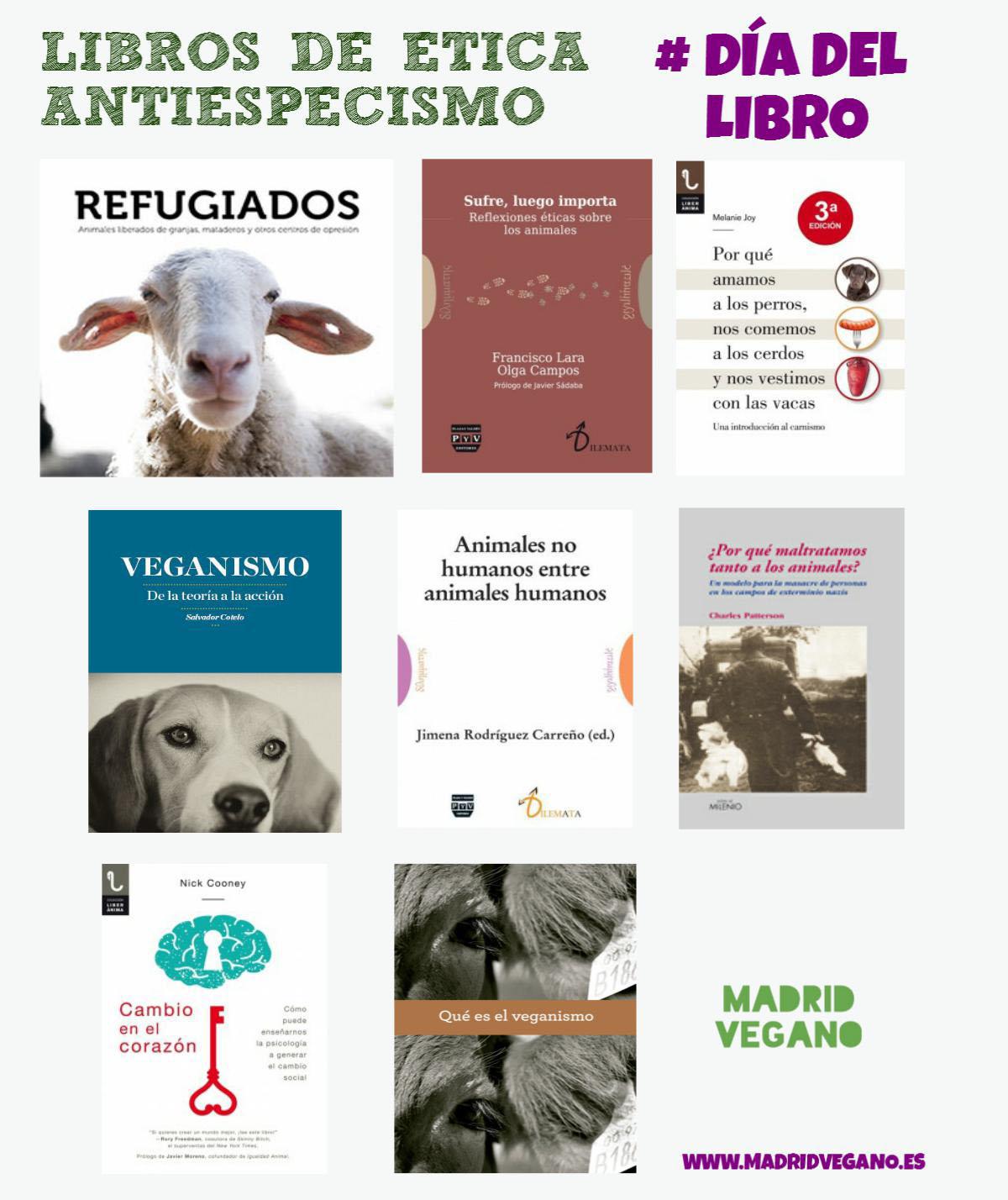 Libros de ética / antiespecismo para el Día del Libro
