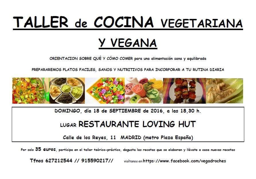 Taller de cocina vegana loving hut septiembre madrid for Curso cocina vegana madrid