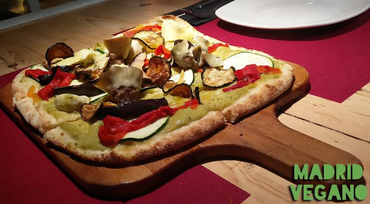 Kilómetros de Pizza incorpora una pizza vegana en su carta