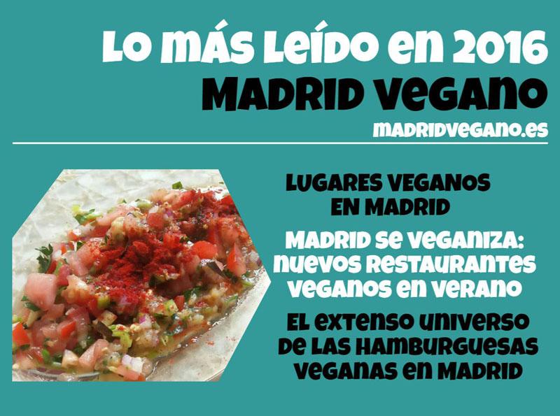 Las noticias más vistas de Madrid Vegano en 2016
