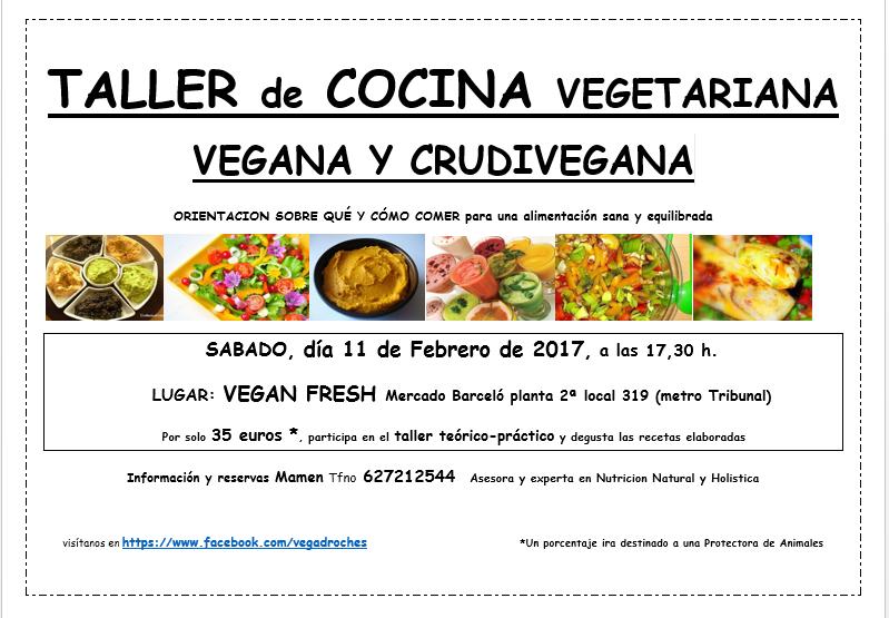 Taller de cocina vegana vegadroches febrero for Curso cocina vegana madrid