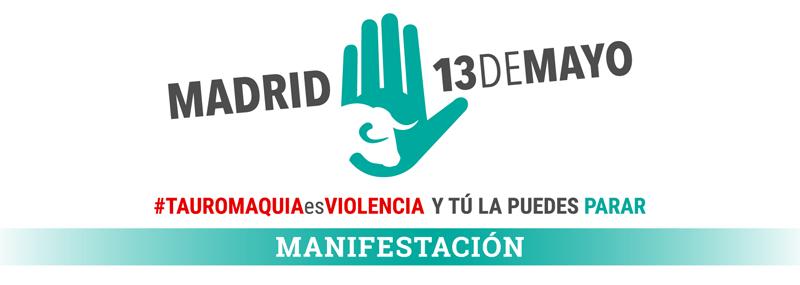"""Manifestación """"Tauromaquia es violencia"""""""