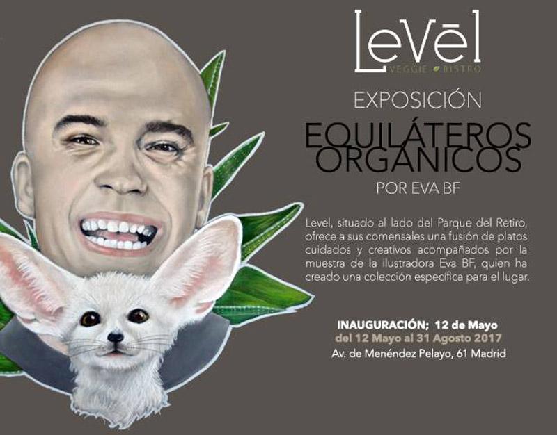 Exposición Equilateros Orgánicos en Level Veggie Bistro
