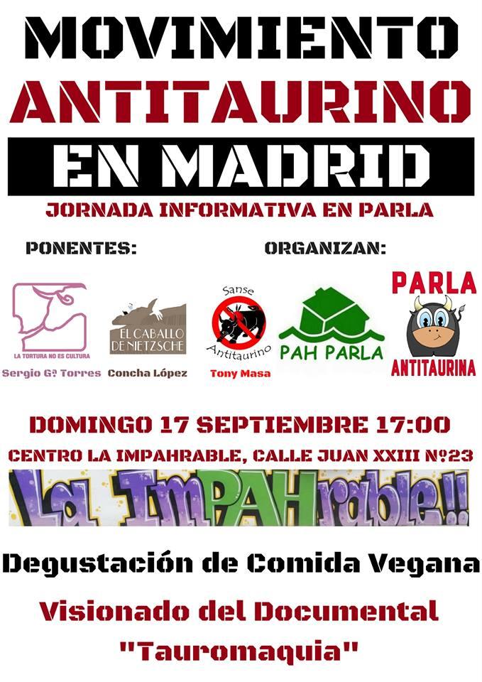 Jornada informativa movimiento antitaurino Madrid