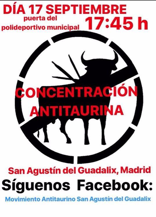 Concentración antitaurina San Agustín de Guadalix