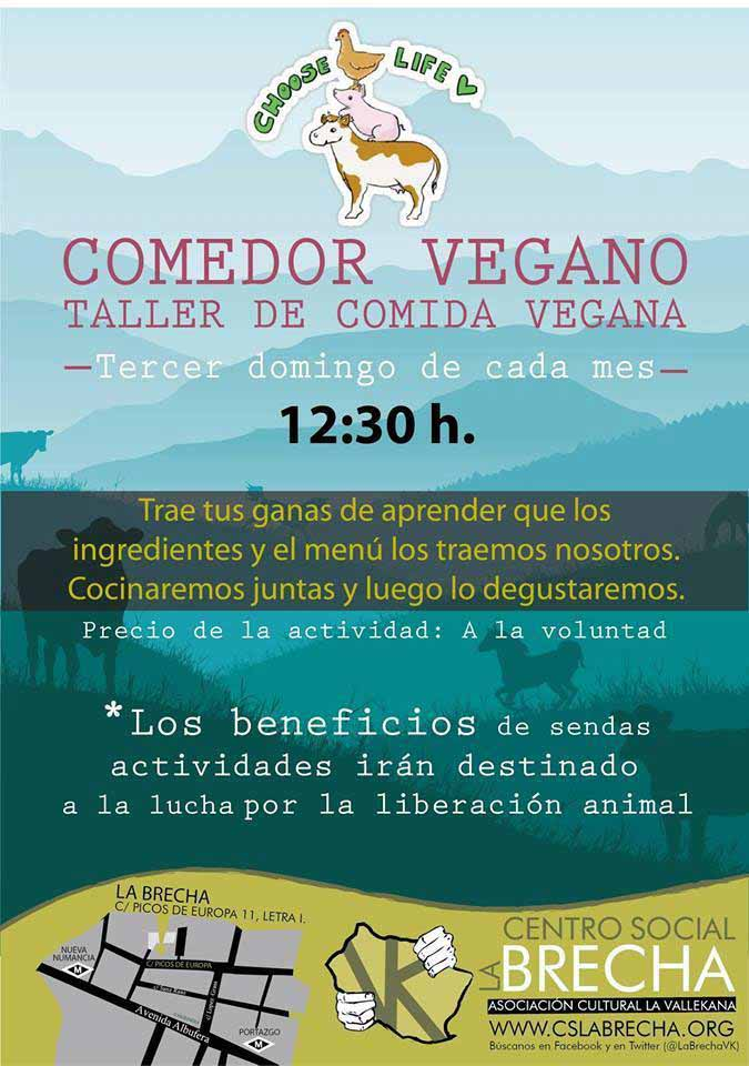 Comedor-taller de cocina vegana en el CS La Brecha (octubre)