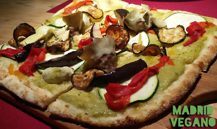 Pizzas veganas en Madrid