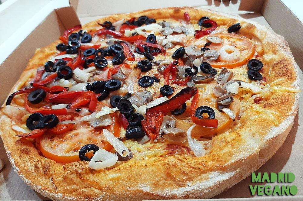 ¿Dónde encontrar pizza vegana en Madrid?