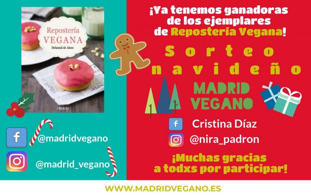 Sorteo navideño: Gana un ejemplar firmado de Repostería vegana (finalizado)