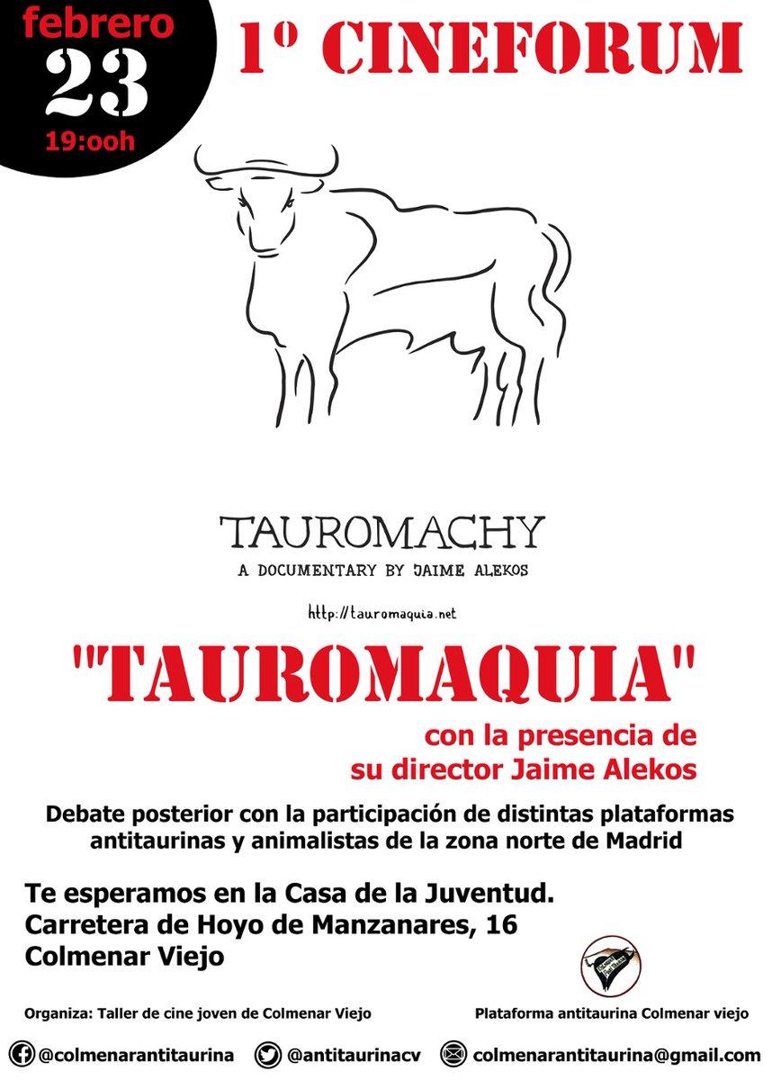 Proyección de Tauromaquia en Colmenar Viejo