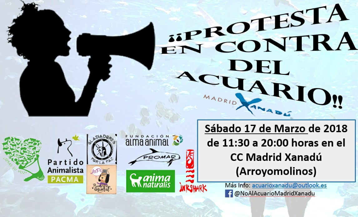 6ª Convocatoria No al acuario del C.C. Madrid Xanadú