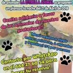 Cena a favor de La estrella animal en Loving Hut Madrid