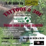 Tattoos solidarios con el santuario Corazón Verde en Alcorcón