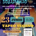 Yoga solidario con el santuario Salvando Peludos