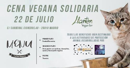 Cena a favor de Doganzo y colonias de Ultratumba en Llantén Veggie Bar
