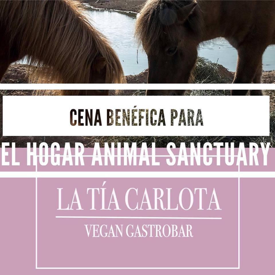 Cena a favor de El Hogar Animal Sanctuary en La Tía Carlota