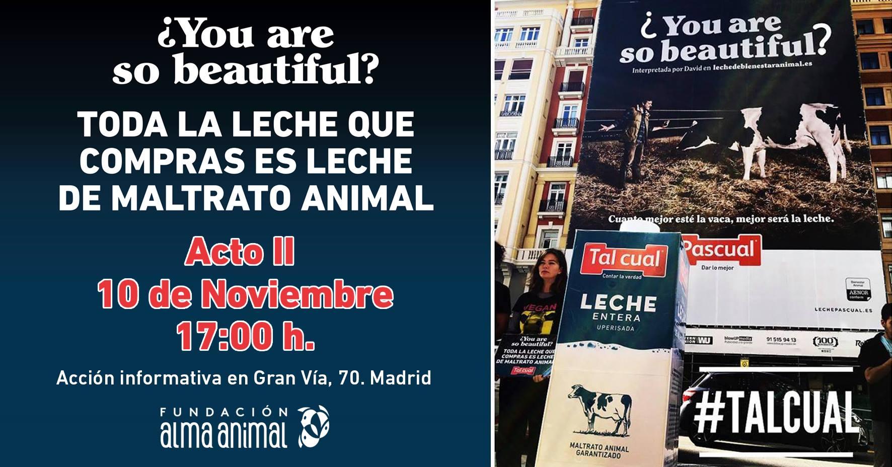 Acto protesta en contra de la industria láctea