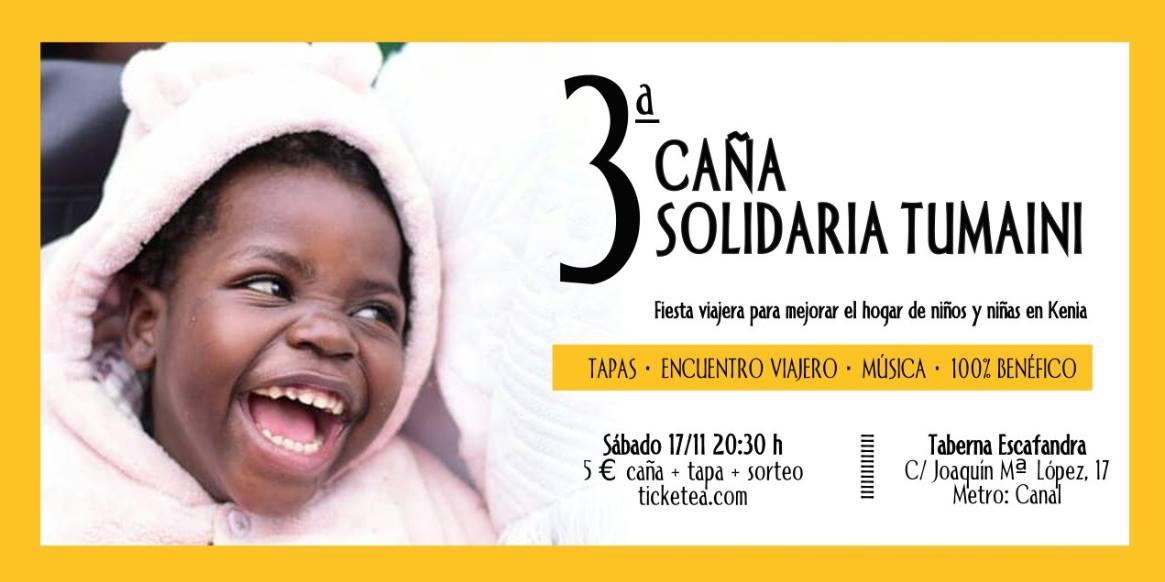 III Caña solidaria de Viajes Solidarios Tumaini en Escafandra. Taberna vegana
