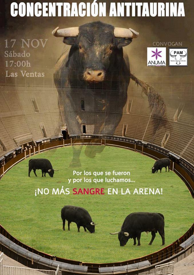 Concentración antitaurina en Las Ventas
