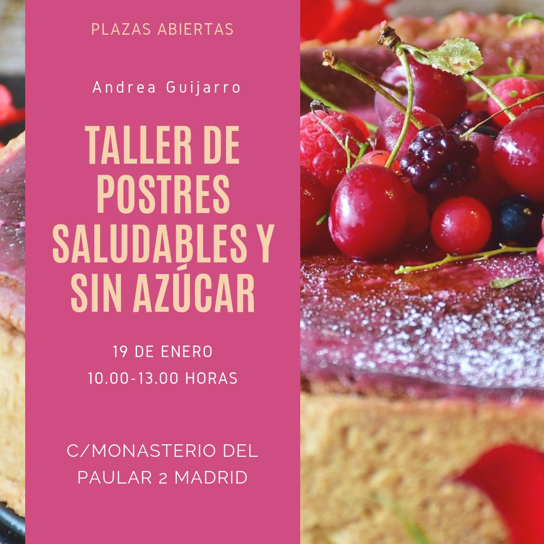 Taller de postres saludables en Madrid