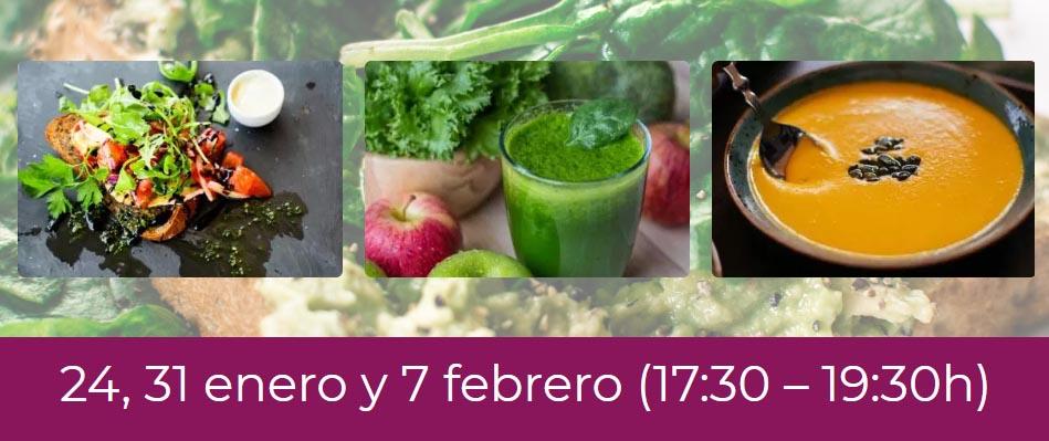 """Curso """"Primeros pasos en la cocina vegana"""" (módulo I) (enero-febrero)"""