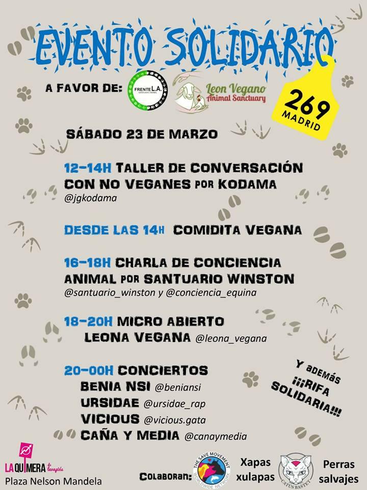 Jornada a favor de los santuarios Frente L.A. y León Vegano
