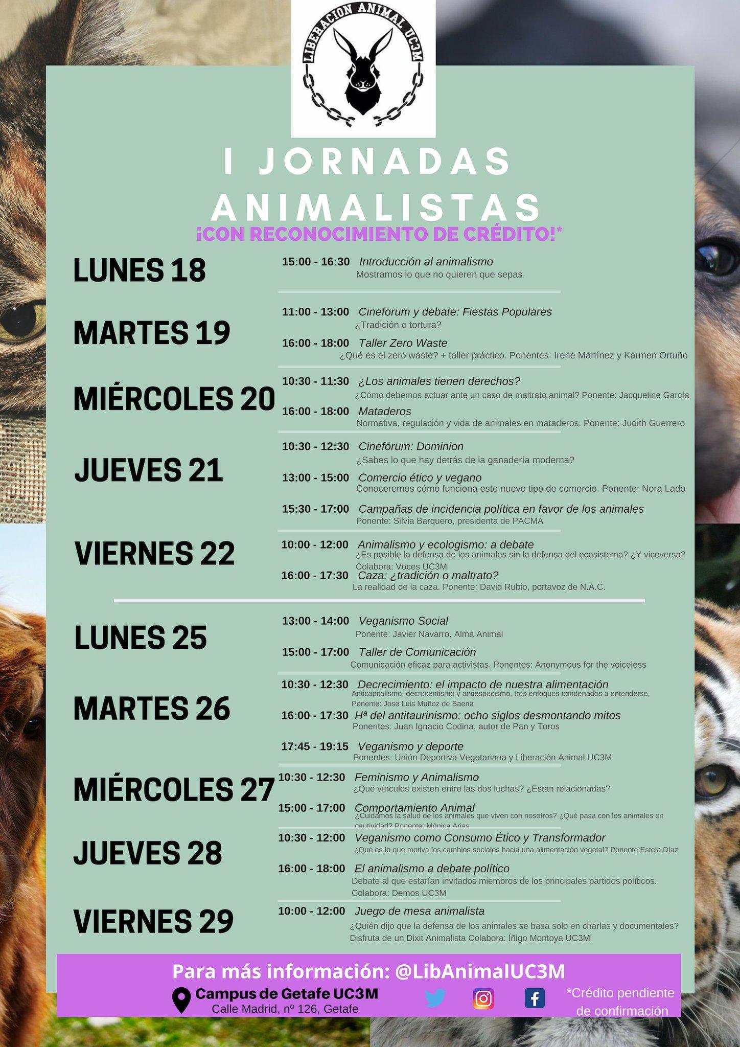 I Jornadas Animalistas en la UC3M
