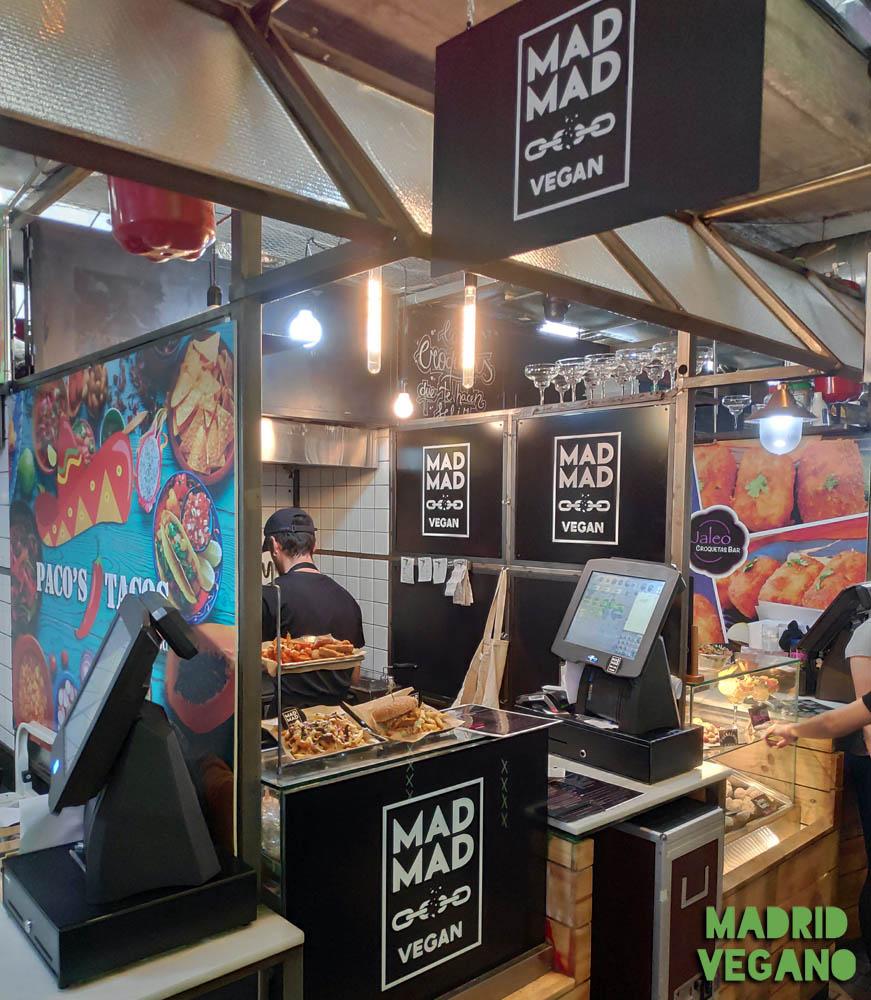 Mad Mad Vegan, fast food vegana en el mercado de San Ildefonso