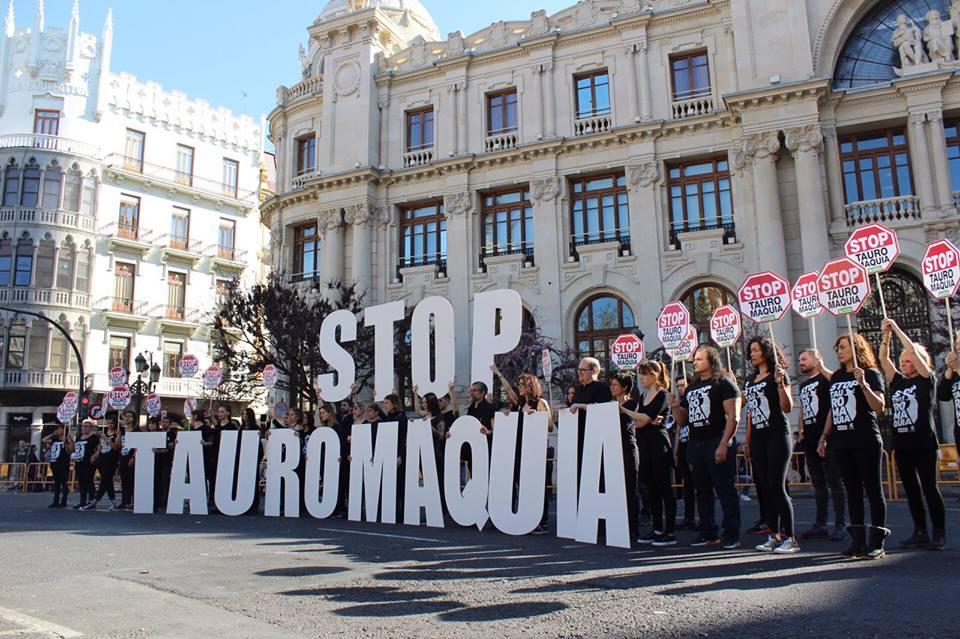 Acción protesta por un San Isidro Sin Crueldad 2019