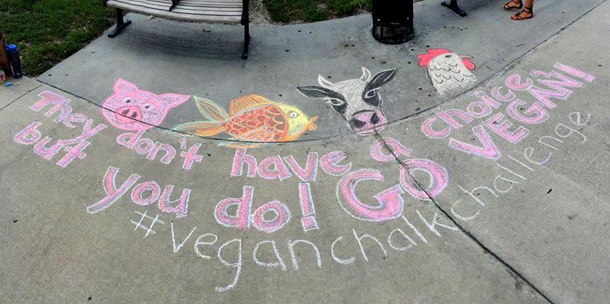Worldwide Vegan Chalking night 2019 organizado por AMA en Madrid