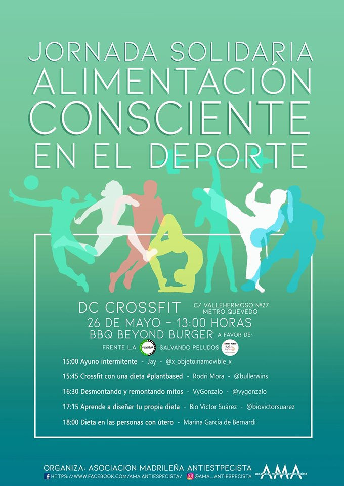 Jornada solidaria: Alimentación consciente en el deporte organizada por AMA