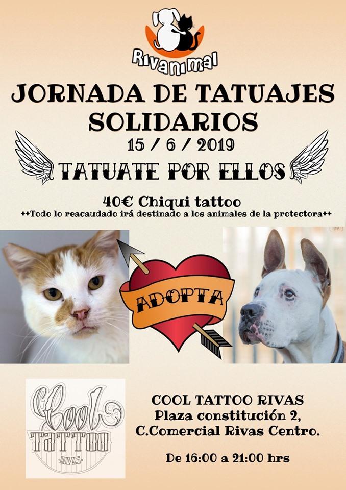 Jornada de tatuajes solidarios a favor de Rivanimal