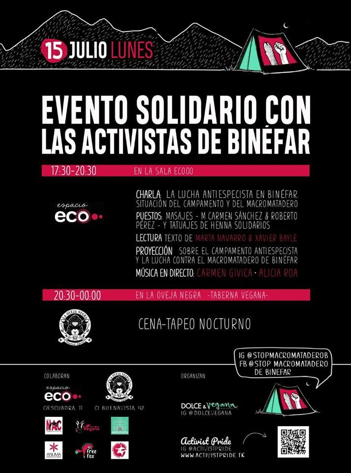 Evento solidario con los activistas de Binéfar