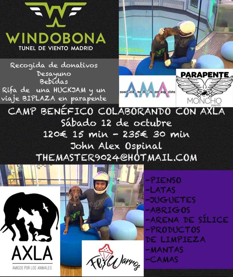 Camp benéfico a favor de AXLA + puesto de comida solidaria de AMA