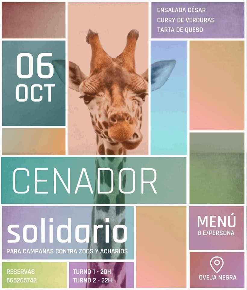 Cenador en apoyo a concentraciones contra zoos y acuarios