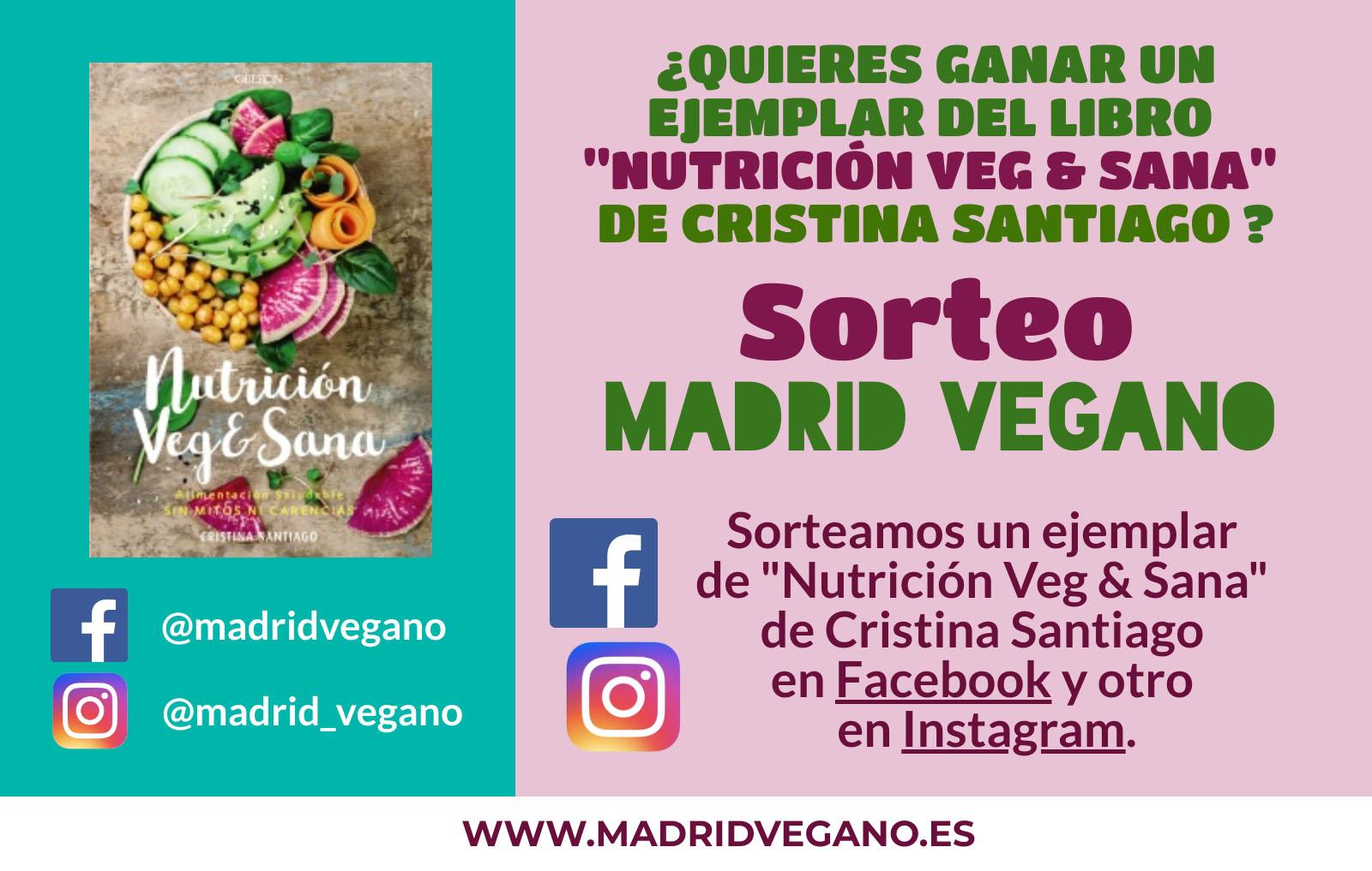 """Sorteo """"Gana un ejemplar del libro Nutrición Veg & Sana"""""""
