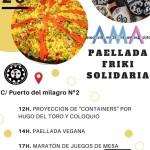 Paellada friki solidaria organizada por AMA