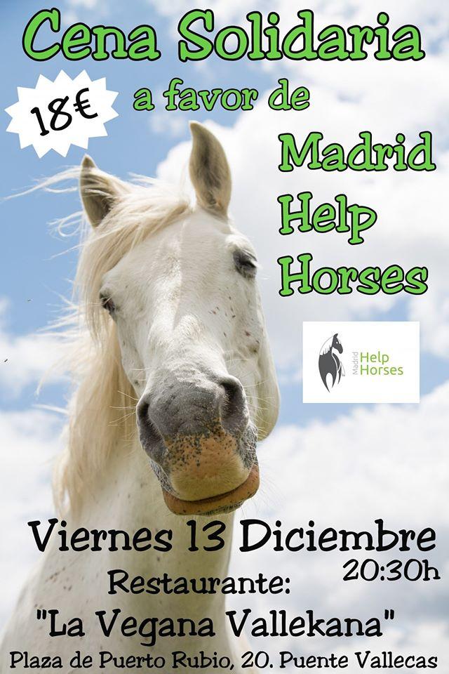 Cena solidaria a favor de Madrid Help Horses