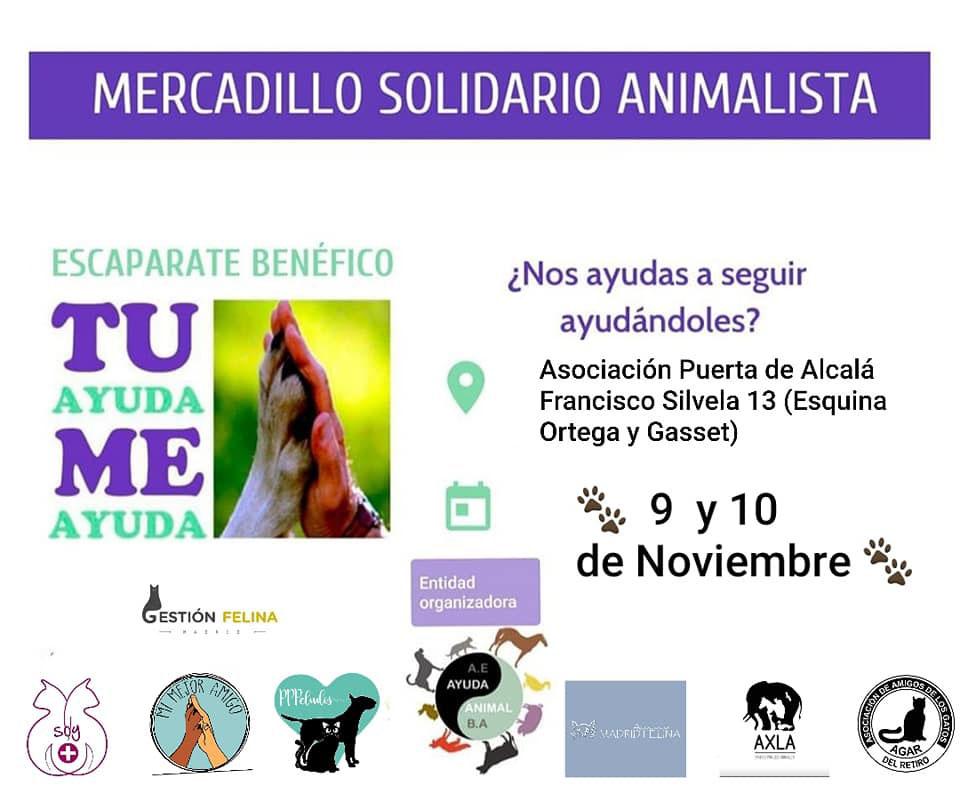 Mercadillo Escaparate Benéfico Animalista (9 y 10 de noviembre)