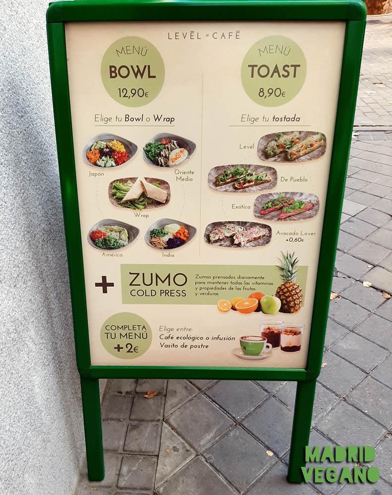 Levél Café, vegano y sano en Ríos Rosas