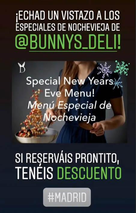 Menús veganos para Navidad en Madrid