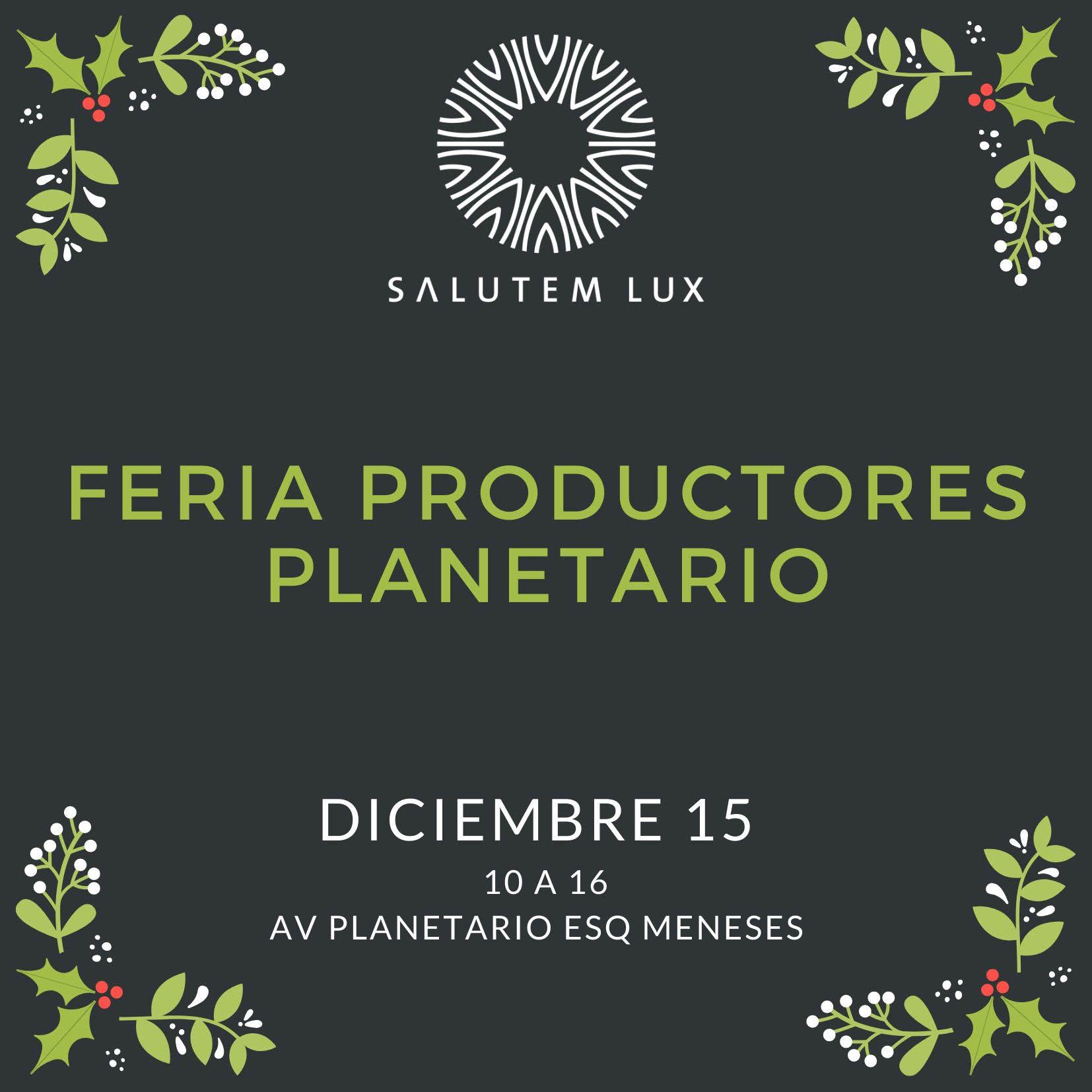 Zumos y comida vegana con Salutem Lux en el Mercado de Productores Planetario (diciembre)