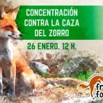 Concentración contra la caza del zorro