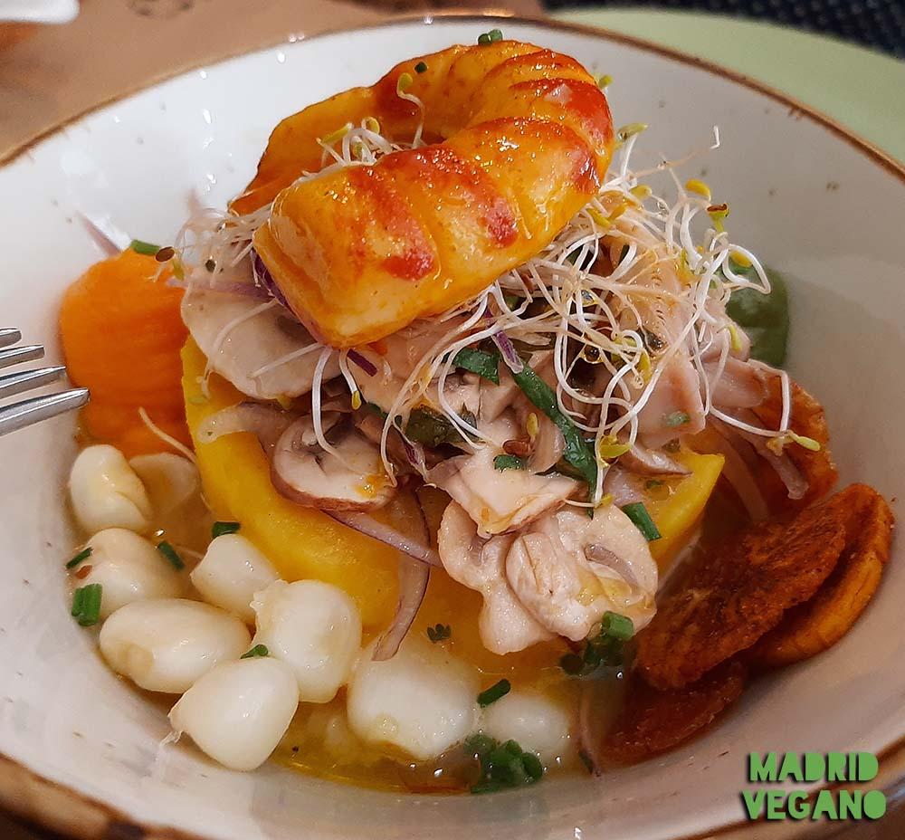 Apus Vegan, comida peruana, refinada y vegana en La Latina